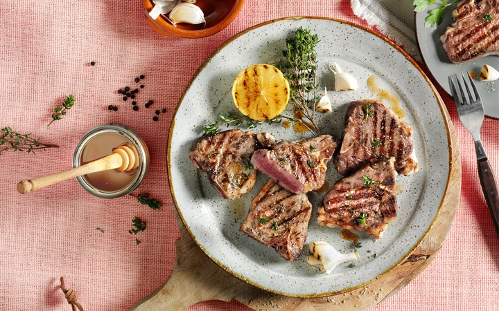 Mini lams T-bone steaks (Artikelnummer 11447)
